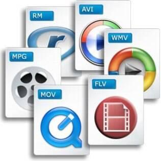 Dezenas de formatos de vídeo são encontrados na internet