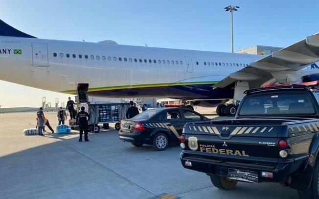 Polícia Federal efetuou prisões em Viracopos.