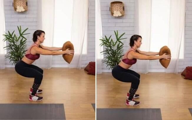 Exercícios para serem feitos com uma almofada