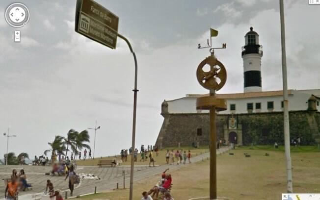 Farol da barra, em Salvador, é um dos pontos mapeados pelo Google Street View