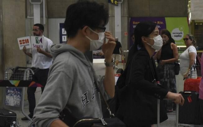 pessoas com máscara de proteção