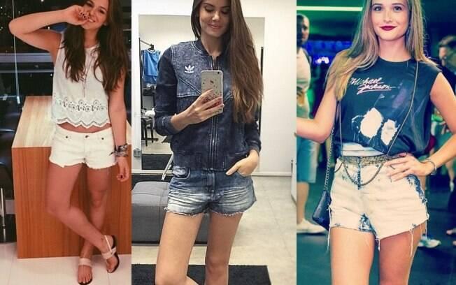 Inspire-se nos looks montados com shorts de Bruna Marquezine, Camila Queiroz e Juliana Paiva