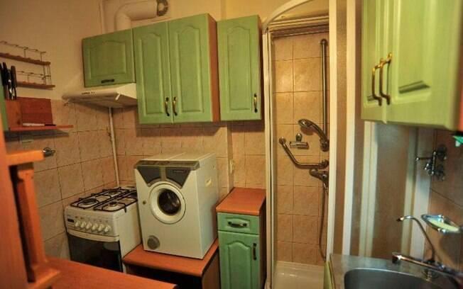 A cozinha-banheiro é uma verdadeira incógnita