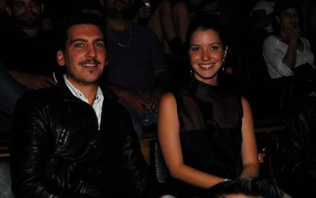 Nathalia Dill e Caio Soh antes de começar o filme,