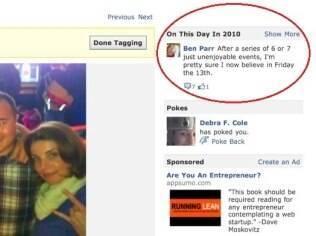 No canto direito, o novo recurso do Facebook