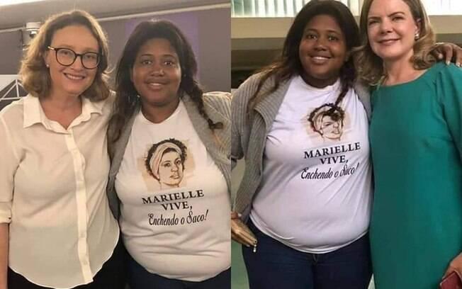 Jovem tirou foto usando camiseta em desrespeito a Marielle Franco