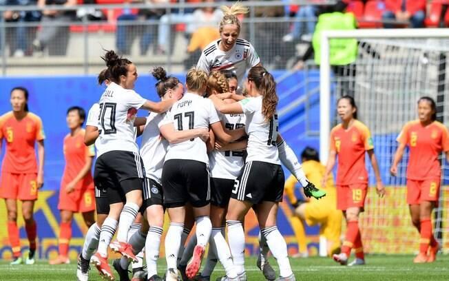 Alemanha estreou na Copa do Mundo feminina com vitória magra sobre a China