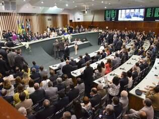 O governador reeleito do Estado de Goiás, Marconi Perillo (PSDB), e seu vice, José Eliton Júnior (PP), tomaram posse nesta quinta-feira