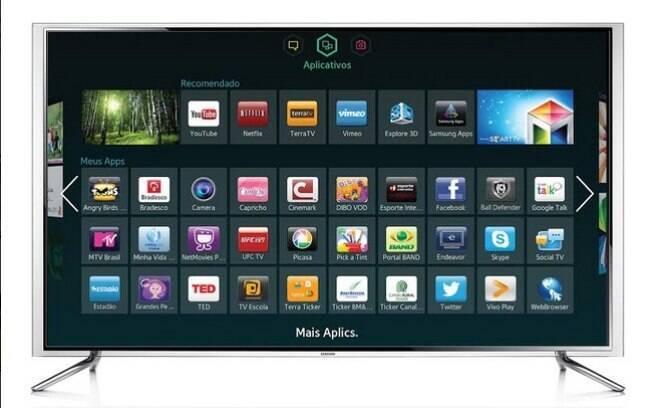 Guia saiba como escolher uma smart tv especiais ig tvs inteligentes da samsung trazem alm de aplicativos uma rea de notcias para o usurio fandeluxe Image collections