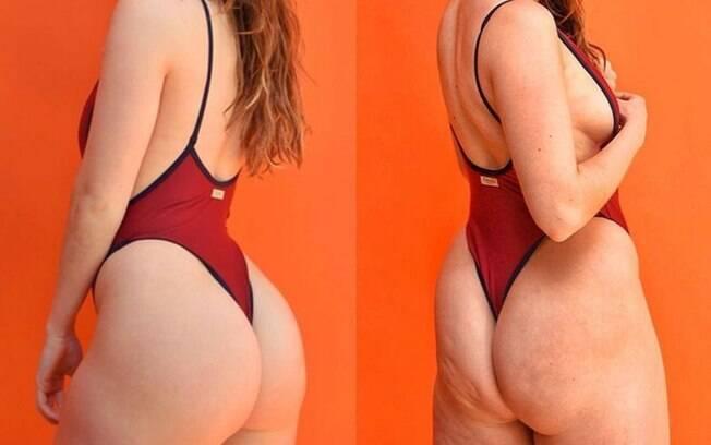 Ao contrair o bumbum, Louise Aubery mostra que ser fitness não tem nada a ver com a aparência do seu corpo