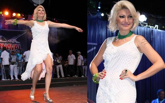Antonia Fontenelle mostra sua ginga para desfilar no carnaval 2012