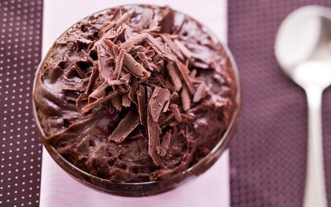 Foto da receita Musse de chocolate pronta.
