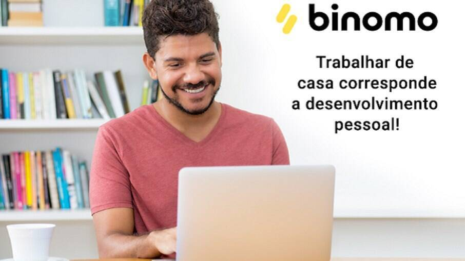 O app Binomo oferece simulações, gráficos e infos em tempo real do noticiário econômico