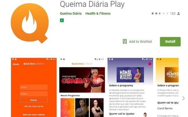 Aplicativos fitness: o Queima Diária é uma plataforma que é considerada um Netflix de exercícios com programas com diferentes objetivos e todos em em português para facilitar o entendimento na hora da prática do exercício físico