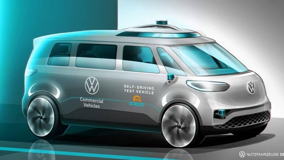 VW ID. Buzz servirá de base para o 1º veículo 100% autônomo do Grupo VW, segundo informações oficiais