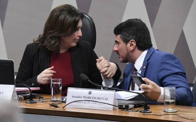 Simone Tebet (MDB-MS) e Marcos do Val (Podemos-ES)