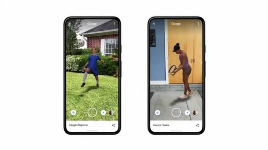 Recurso do Google mostra atletas em realidade aumentada