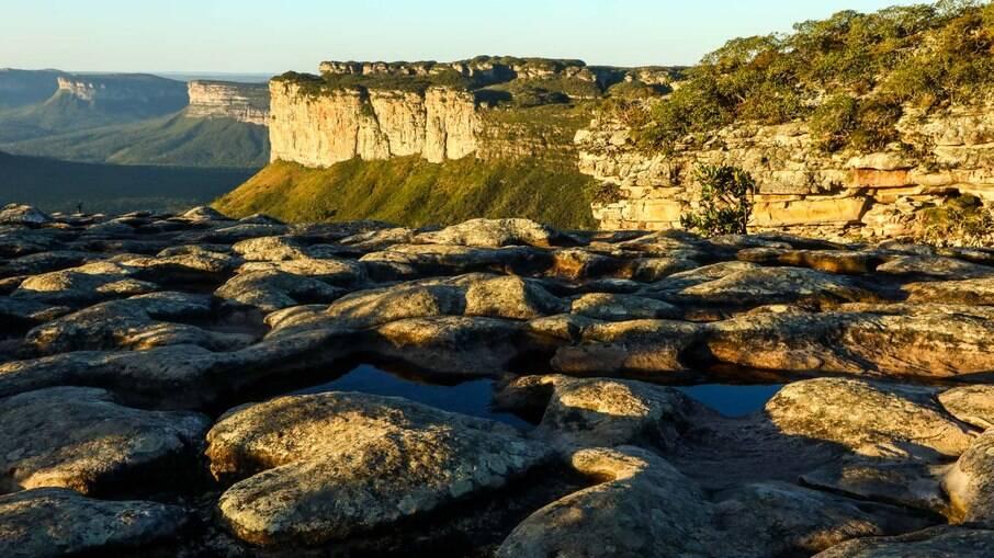 A região da Chapada Diamantina se estende por aproximadamente 38 mil km² de uma extensa área verde.