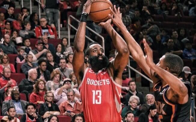 James Harden foi o grande destaque desta rodada da NBA ao anotar 41 pontos na vitória dos Rockets sobre o Suns