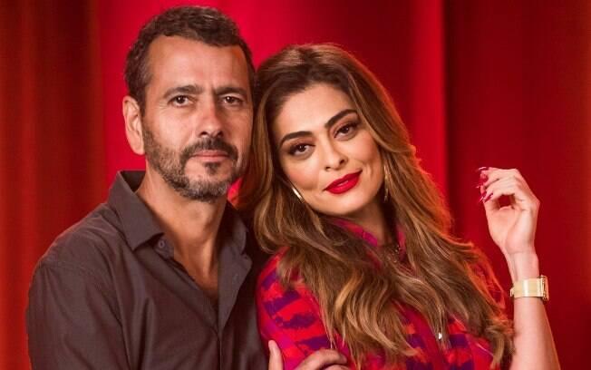 Amadeu (Marcos Palmeira) e Maria da Paz (Juliana Paes)