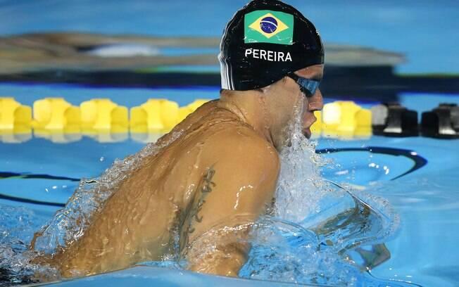 Thiago Pereira nadou a eliminatória dos 200m costa. Foto: Satiro Sodre/SSPress