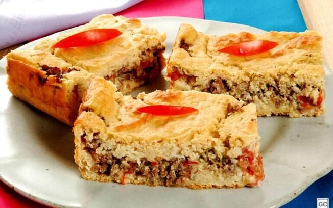Torta de grão-de-bico: opção deliciosa para refeições simples