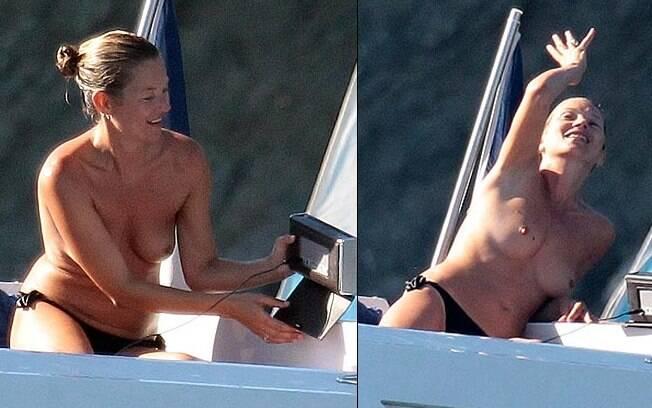 A top Kate Moss adora fazer topless