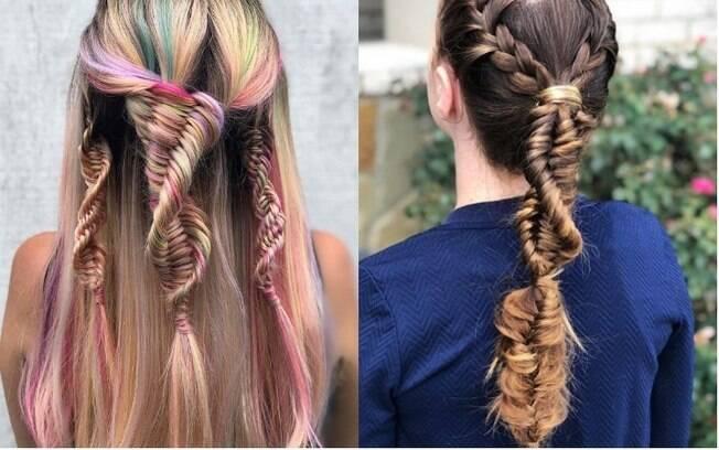 A nova tendência das redes para fazer tranças no cabelo é criar uma espiral com os fios, parecido com o formato de