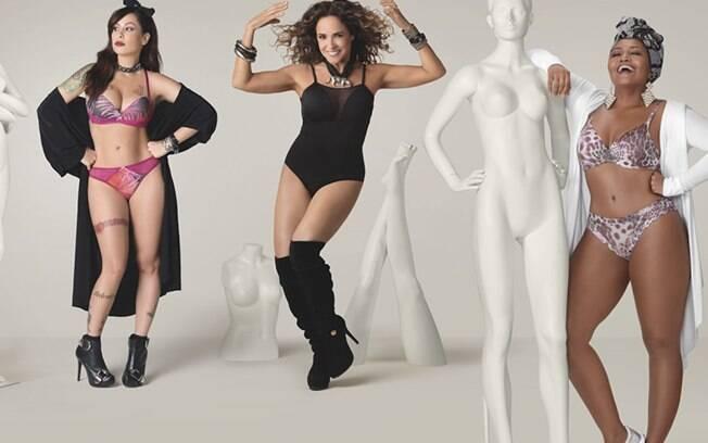 A campanha de divulgação reuniu Daniela Mercury, Pitty e Gaby Amarantos