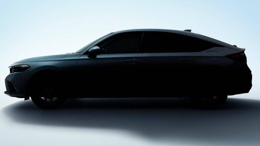 Honda Civic Hatchback 2022 terá lanterna com formato diferente em relação ao sedã