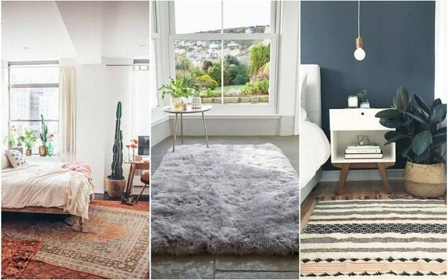 Além de protegerem os pés do piso gelado durante o frio, tapetes também trazem um ar aconchegante para a decoração