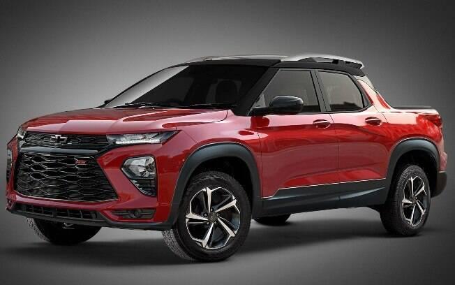 Projeção antecipa características da futura picape intermediária da GM, com traços do novo Blazer chinês