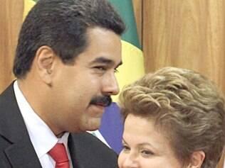Dilma e o presidente venezuelano, Nicolás Maduro: sem envolvimento