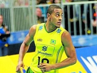 Jovem.  Mais novo no grupo brasileiro, Lucarelli espera continuar vencendo e trazer o título Mundial
