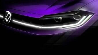 VW revela teaser da frente da versão renovada do novo Polo