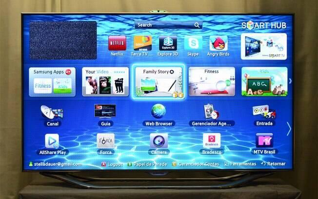Tv da samsung aponta para futuro do entretenimento foto e vdeo ig tv samsung es8000 tem como destaque o suporte a comandos por meio de gestos e voz fandeluxe Image collections