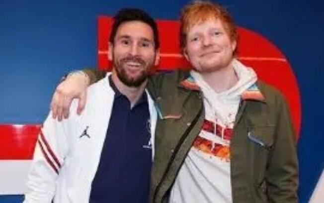 Messi e Ed Sheeran