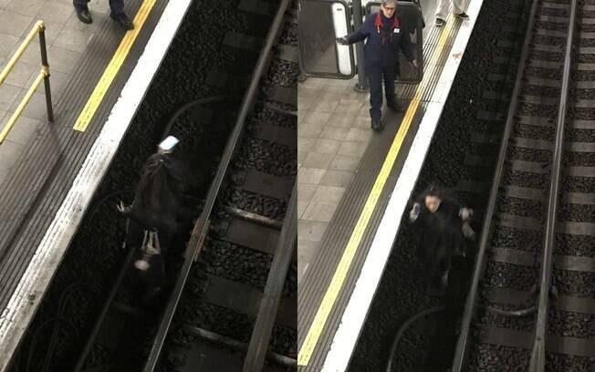 Ao descer nos trilhos da estação Aldgate East, em Londres, uma mulher fez com que parte do metrô fosse paralisado