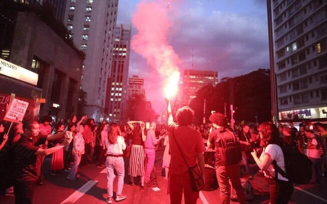 Manifestação contra reforma da Previdência na Avenida Paulista, em São Paulo