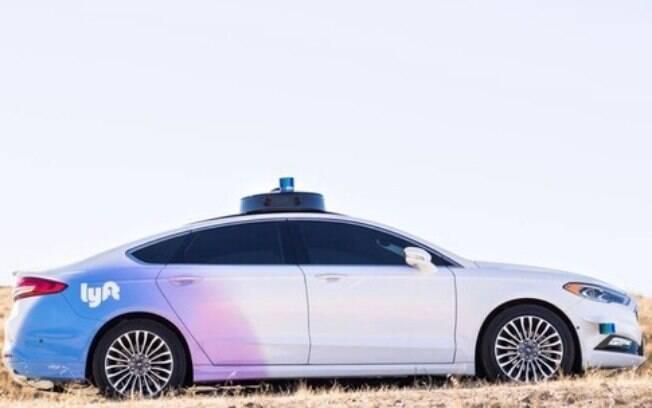 Em parceria com a Ford, protótipo do Fusion autônomo para o aplicativo Lyft, concorrente do Uber e seus carros elétricos