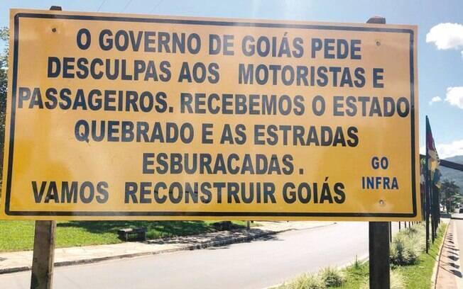 Governo de Goiás pediu