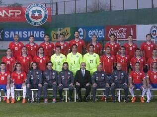 Foto oficial da seleção chilena que está hospedada na Toca da Raposa II