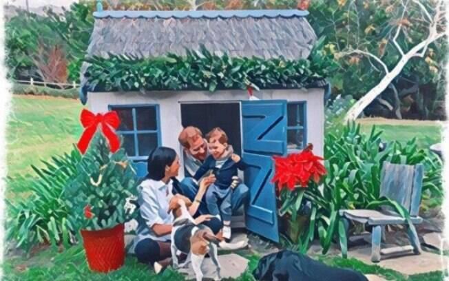 Cartão de Natal de Harry e Meghan