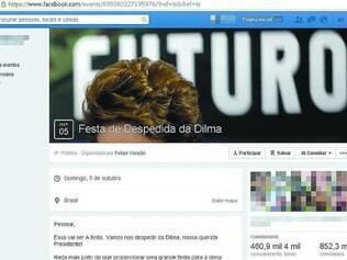 Campanha. Página no Facebook utiliza de muita ironia para convocar o internauta a comparecer às urnas e não votar em Dilma Rousseff