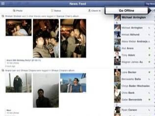 Imagens do aplicativo do Facebook para iPad que vazaram em julho