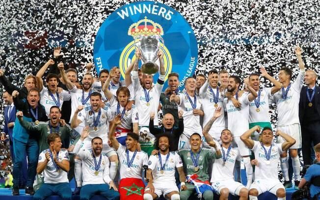 Real Madrid foi campeão da Liga dos Campeões 2018