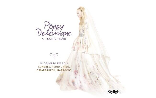 Vestido de noiva: Poppy Delevingne