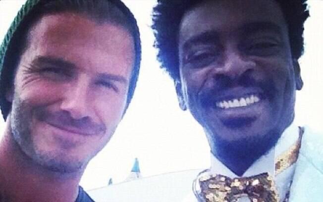 Seu Jorge tietou o jogador David Beckham...