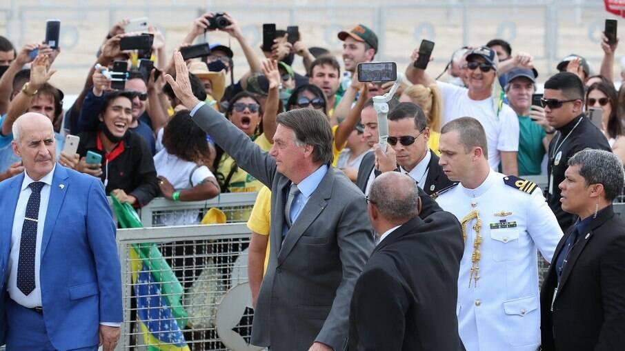 Bolsonaro fez seu primeiro discurso em Brasília