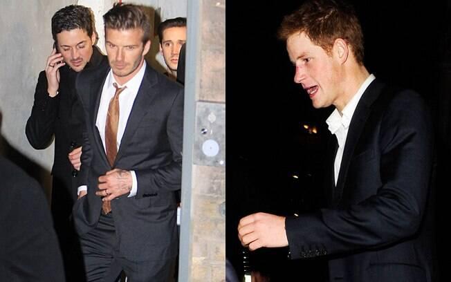 David Beckham e príncipe Harry curtiram a madrugada deste sábado (4) em balada londrina